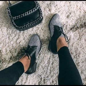 black & white patterned oxfords - restricted shoes
